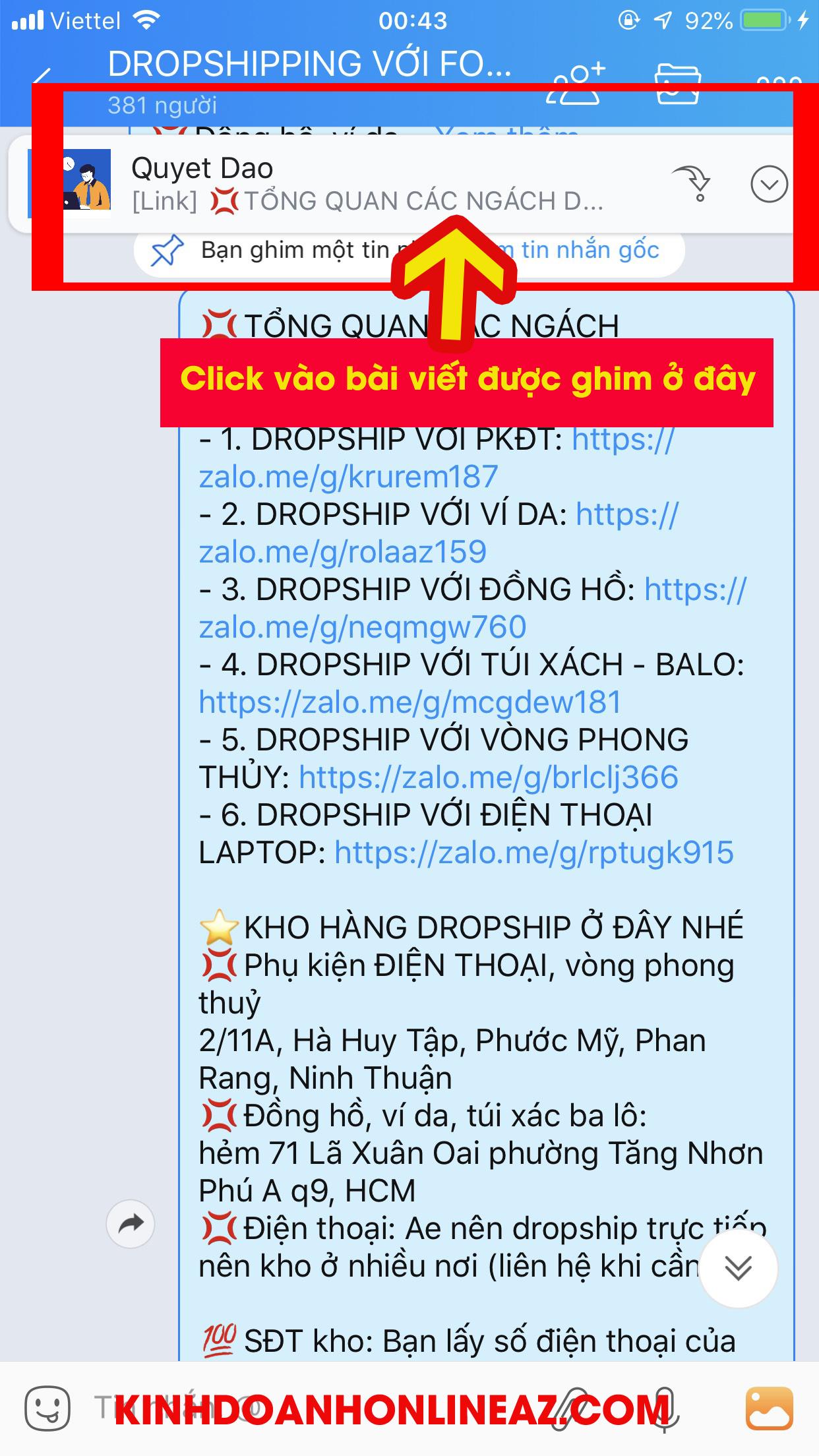 Hướng dẫn Dropshipping với kinhdoanhonlineaz.com